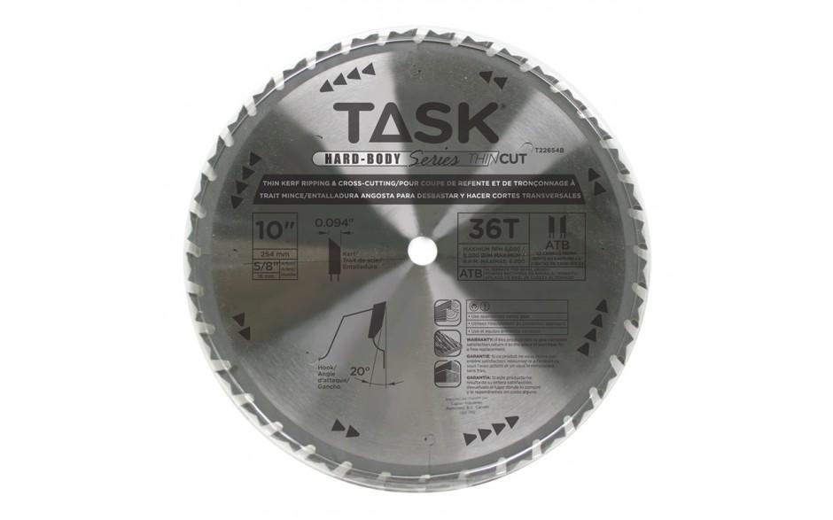 "10"" 36T ATB Hardbody Thin Kerf Ripping & Cross-Cutting Blade - Bulk"