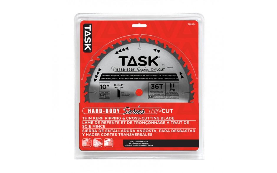 "10"" 36T ATB Hardbody Thin Kerf Ripping & Cross-Cutting Blade - 1/pack"