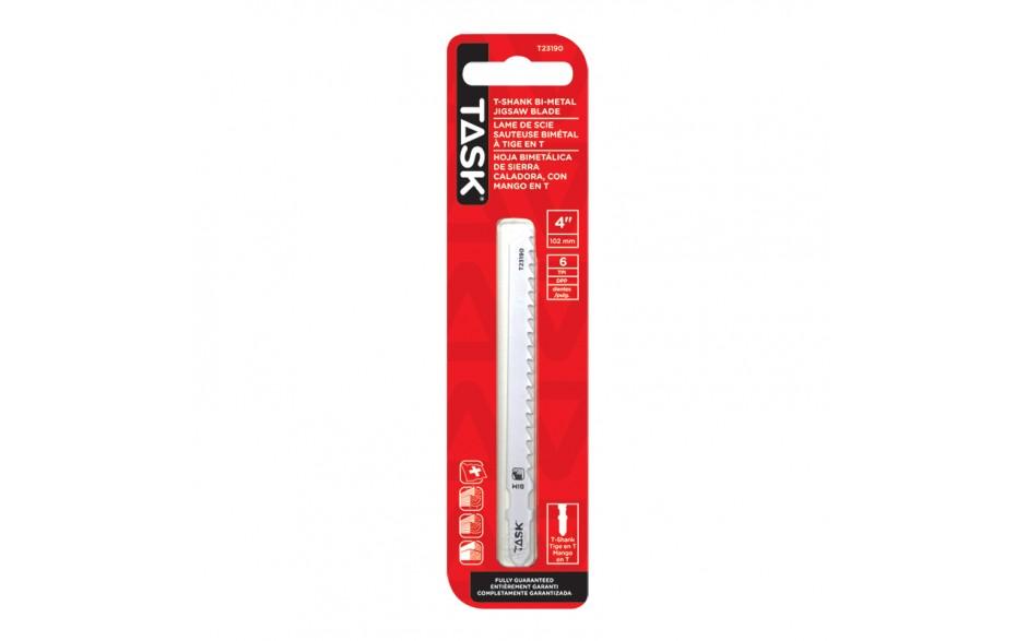 "4"" 6 TPI T-Shank Jigsaw Blade for Nail'd Wood, Prtcl-Fibre Brd - 1/pack"