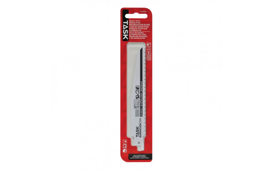 "6"" 8/10 TPI 0.062"" Reciprocating Blade for Metal & Pipe Demolition - 1/pack"