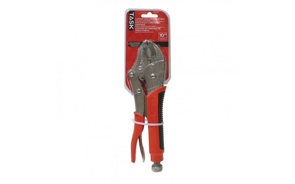 """10"""" Curved Jaw Locking Pliers with Soft Touch Rubber Grip"""