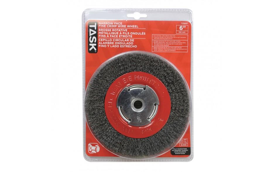 "6"" Fine Steel Industrial Crimp Wheel for Bench Grinders - 1/pack"