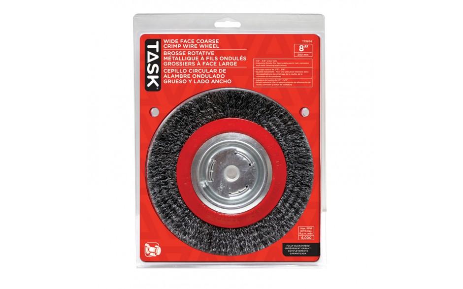 "8"" Coarse Steel Industrial Crimp Wheel for Bench Grinders - 1/pack"