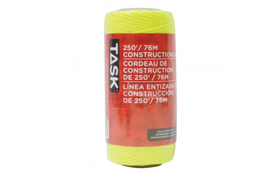 250' Yellow Replacement Braided Nylon Construction Line - 1/pack