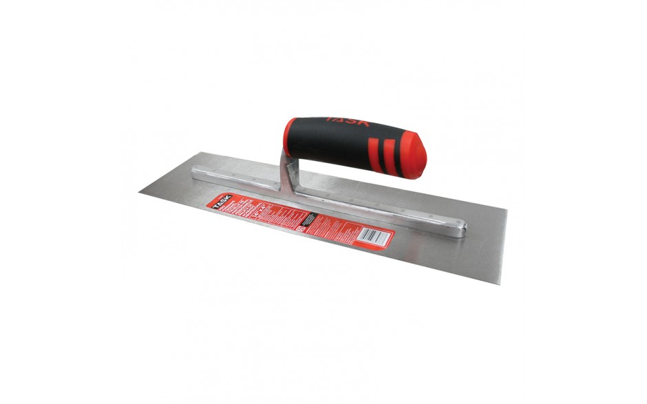 "14"" x 4"" Professional High Carbon Steel Finishing Trowel with FlexFit Grip"