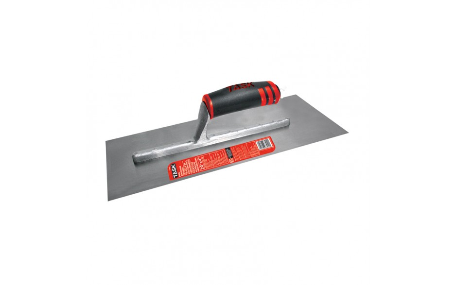 """20"""" x 4"""" Professional High Carbon Steel Finishing Trowel with FlexFit Grip"""