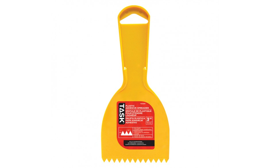 "3"" (1/4"" x 1/4"") Plastic Saw Tooth Adhesive Spreader"