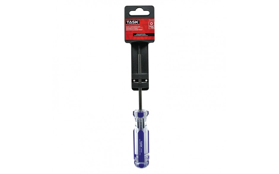"T15 Torx 4"" Elite Acetate Hard Grip Screwdriver - 1/pack"