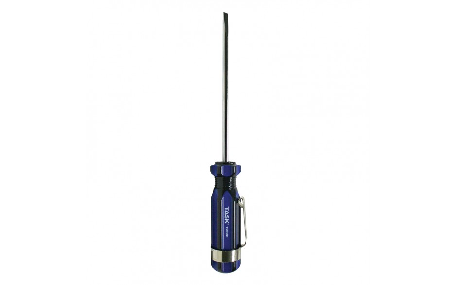 "1/8"" Slotted 3"" Acetate Hard Grip Screwdriver with Pocket Clip - Bulk"
