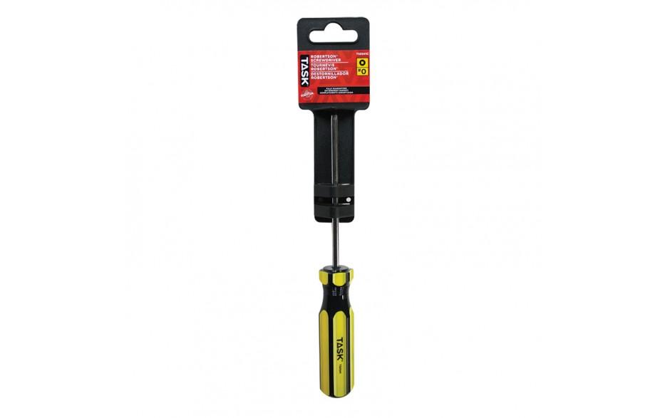 "#0 Robertson® 4"" Acetate Hard Grip Screwdriver - 1/pack"