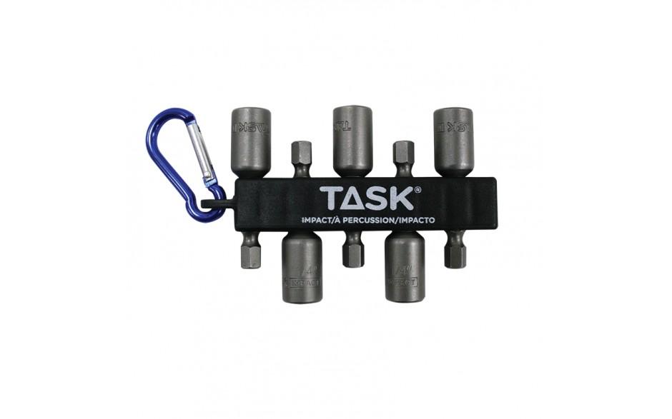 """5pc 1/4"""" IMPACT Stubby Magnetic Nut Setter Carabiner Clip - Bulk"""