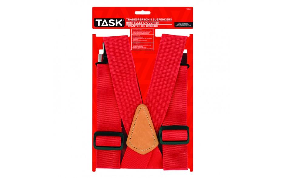 Partial Elastic Red Suspenders - 1/pack