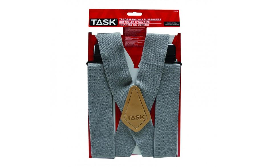 Full Elastic Grey Suspenders - 1/pack