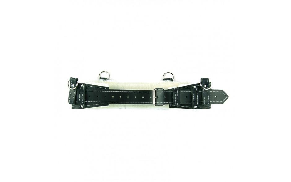 Black Sheepskin Lined Back Support Belt - 1/pack