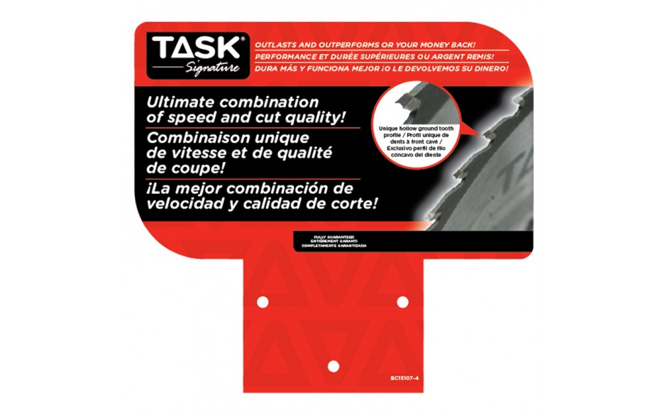 """Display Material: Task Signature Backer Card for D15107 (7"""" - 8-1/4"""")"""