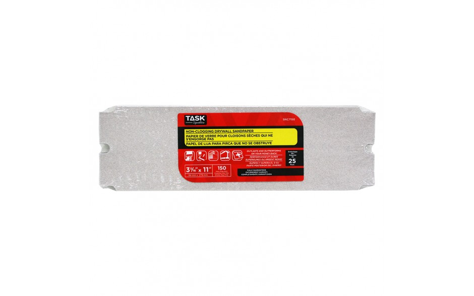 "3-5/16"" x 11"" 150 Grit Very Fine Non-Clogging Drywall Sandpaper - Bulk"