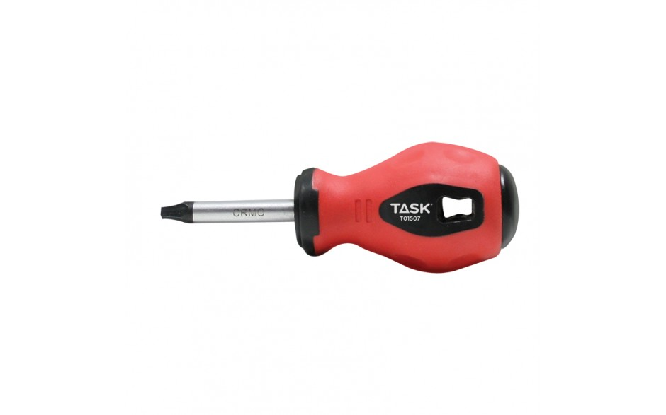 "#2 Square Recess 1-1/2"" Stubby Soft Grip Screwdriver - Bulk"