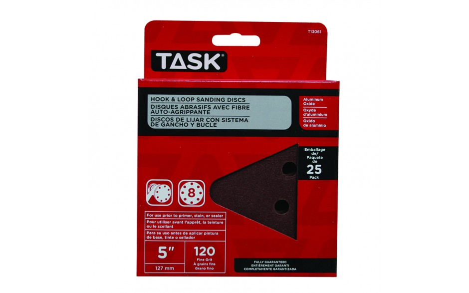 Task Tools T13061  Hook and Loop Sanding Discs