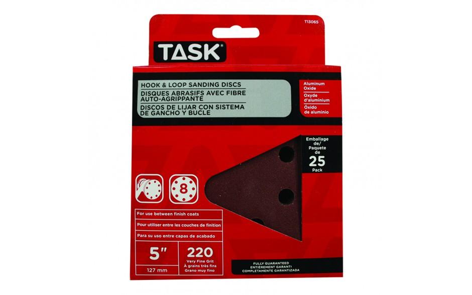 """5"""" 8 Hole 240 Grit Hook & Loop Sanding Discs - 25/pack"""