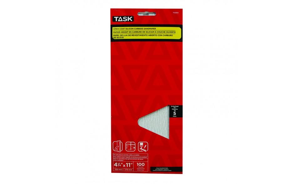 "4-1/4"" x 11"" 100 grit Fine Drywall Sandpaper - 5/pack"