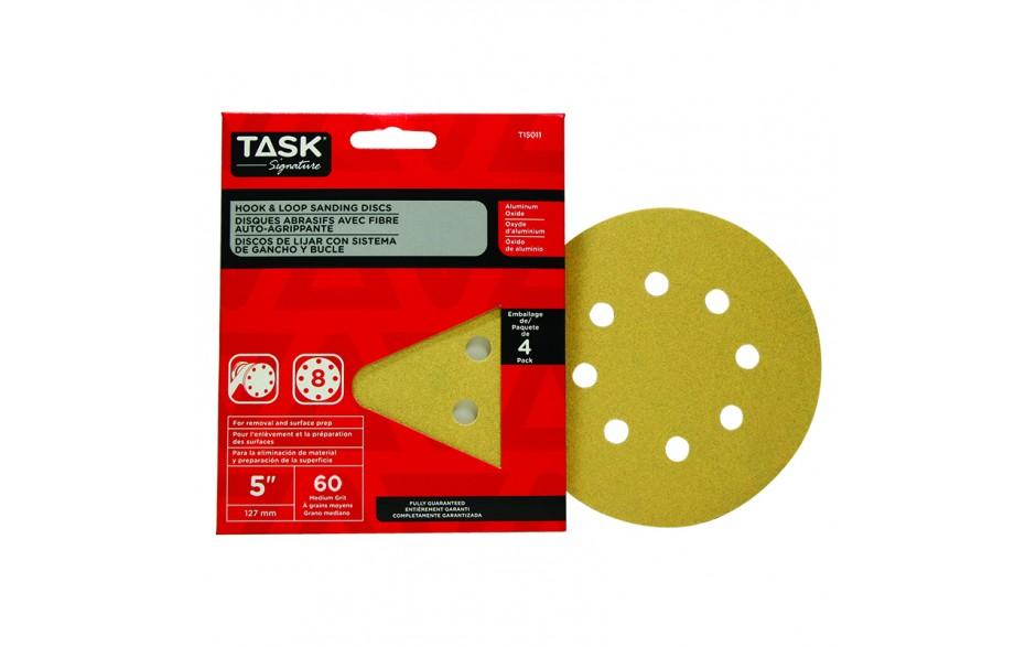 """5"""" 8 Hole 60 Grit Hook & Loop Sanding Discs - 4/pack"""