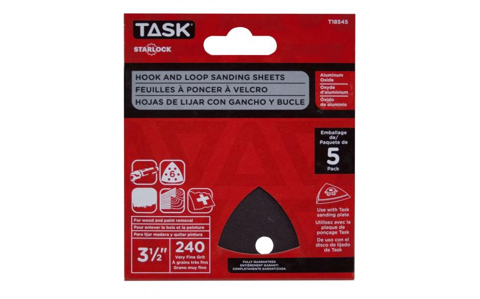 "3 1/2"" 6 hole 240 grit Starlock Sanding Sheets - 5/pack"