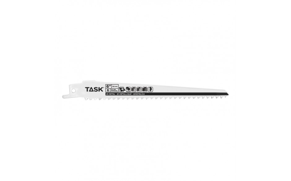 "6"" 6 TPI 0.050"" Reciprocating Blade for Wood & Plastic - Fast - Bulk"