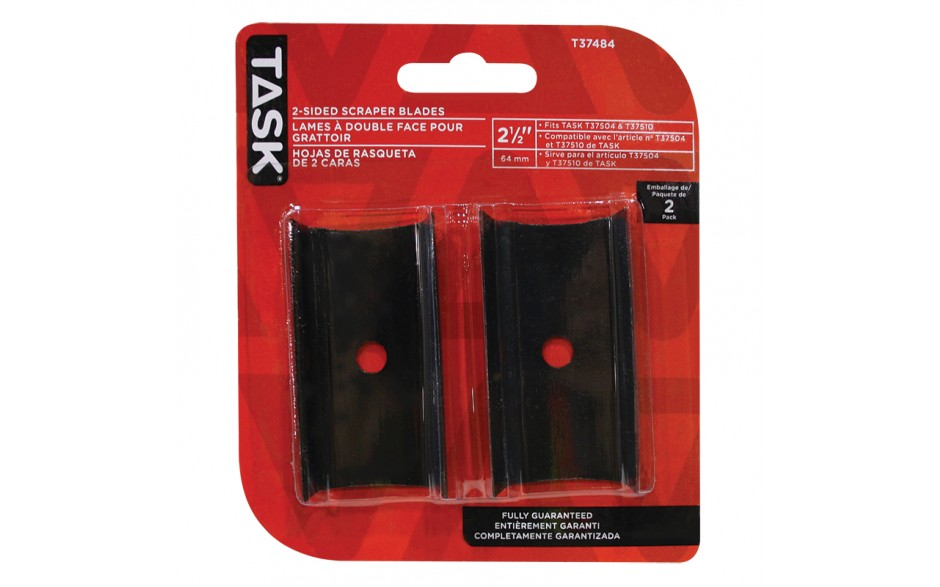 "2-1/2"" Replacemenet 2-Sided Scraper Blades - 2/pack"