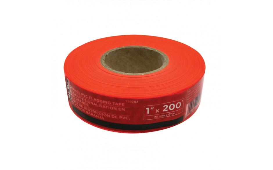 "1"" x 200' Orange PVC Flagging Tape"