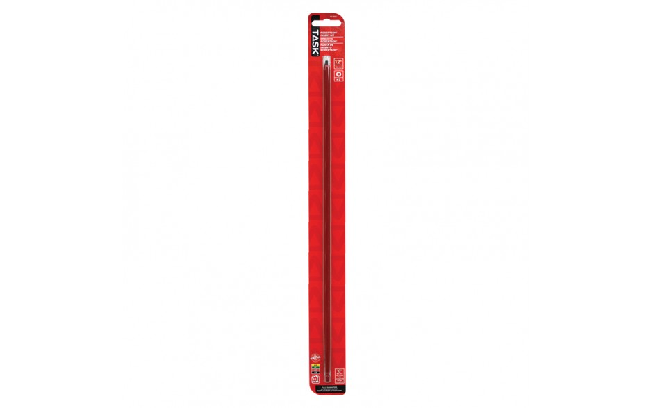 """#2 Robertson® 12"""" Red Two-Piece Screwdriver Bit - 1/pack"""