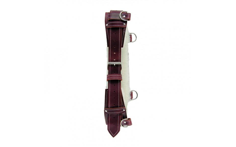 Burgundy Sheepskin Lined Back Support Belt - 1/pack