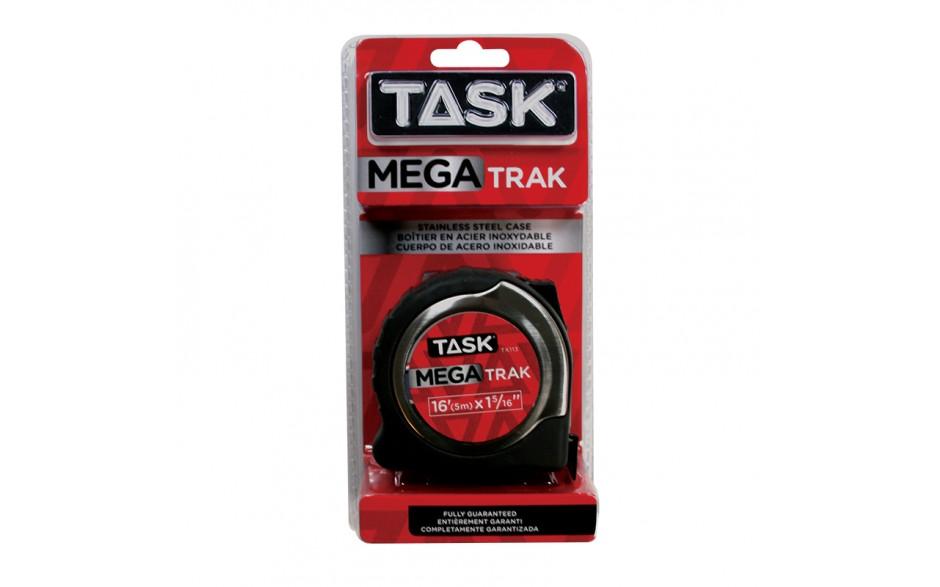 "16' (5m) x 1-5/16"" MegaTrak Stainless Steel Tape Measure - 1/pack"
