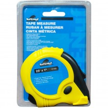 "25' x 1"" Rubber Jacket Tape Measure - 1/pack"