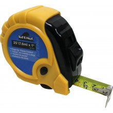"25' (7.6m) x 1"" Rubber Jacket Tape Measure - 1/pack"
