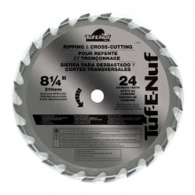 "8-1/4"" 24T ATB Supercut Ripping & Cross-Cutting Blade - Bulk"