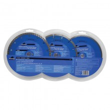 "3pc 7"" Diamond Blade Set - Clamshell"