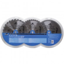 "3pc 10"" ATB Circular Saw Blade Set - Clamshell"