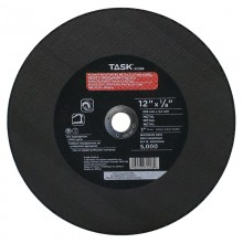 "12"" x 1/8"" 1"" Arbor Double Reinforced Metal Cutting Wheel - Bulk"