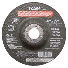 "4"" x 1/4"" 5/8"" Arbor Metal Depressed Center Wheel - Bulk"