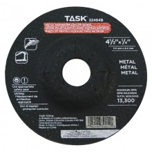 "4-1/2"" x 1/4"" 7/8"" Arbor Metal Depressed Center Wheel - Bulk"