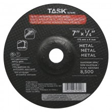 "7"" x 1/4"" 7/8"" Arbor Metal Depressed Center Wheel - Bulk"
