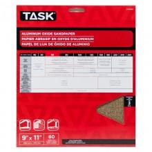 """9"""" x 11"""" 60 Grit Medium Premium Aluminum Oxide Sandpaper - 3/pack"""