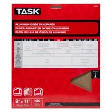"""9"""" x 11"""" 100 Grit Fine Premium Aluminum Oxide Sandpaper - 5/pack"""