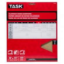"""9"""" x 11"""" 120 Grit Fine Premium Aluminum Oxide Sandpaper - 5/pack"""