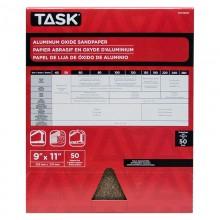 """9"""" x 11"""" 50 Grit Coarse Premium Aluminum Oxide Sandpaper - Bulk"""