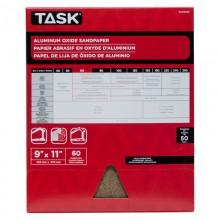"""9"""" x 11"""" 60 Grit Medium Premium Aluminum Oxide Sandpaper - Bulk"""