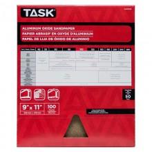 """9"""" x 11"""" 100 Grit Fine Premium Aluminum Oxide Sandpaper - Bulk"""