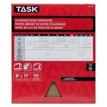 "9"" x 11"" 150 Grit Very Fine Premium Aluminum Oxide Sandpaper - Bulk"