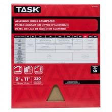 "9"" x 11"" 220 Grit Very Fine Premium Aluminum Oxide Sandpaper - Bulk"