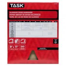"9"" x 11"" 240 Grit  Very Fine Premium Aluminum Oxide Sandpaper - Bulk"